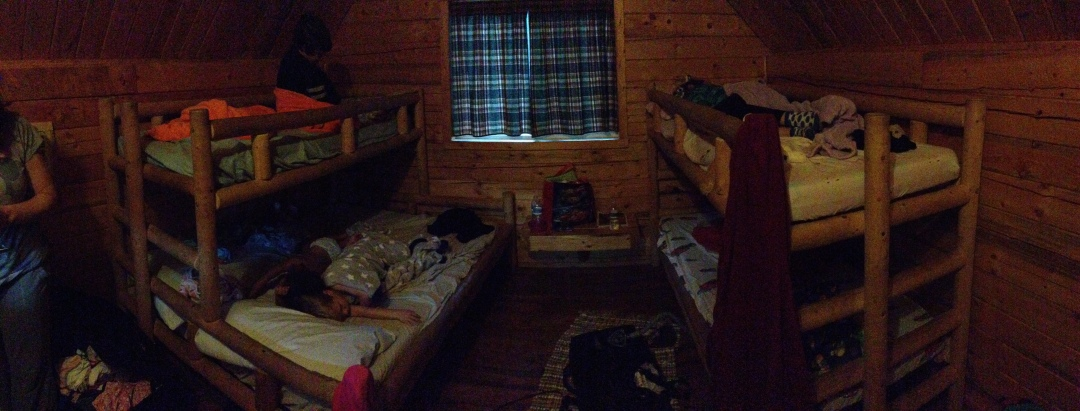 Our cabin at Horse Thief Campground