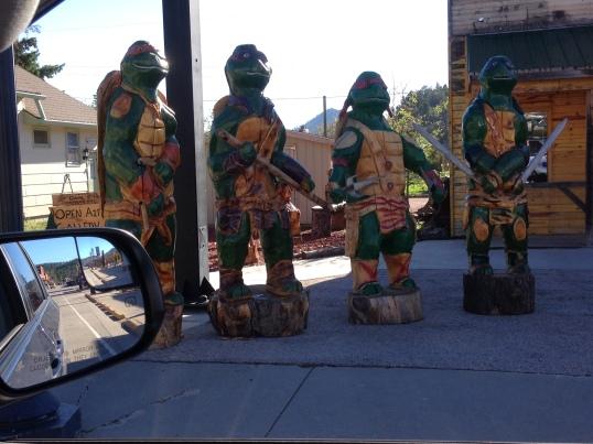 Teenage Mutant Ninja Turtles - wood carvings!