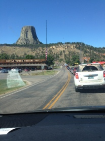 Spotting Devil's Tower from a few miles away