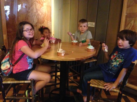 Eating ice cream at the Yellowstone Inn