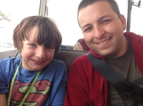 EB and Dad on the duck tour
