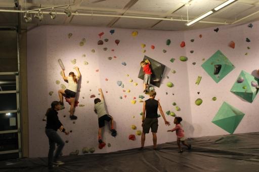 Everyone climbing