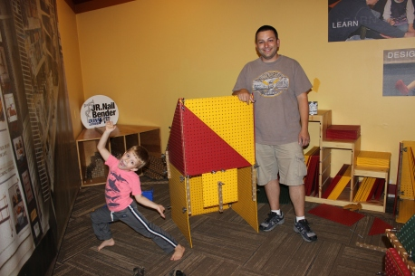 EC and Dad build a house