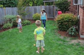 Kids play crocket