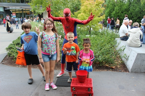 Kids with Spidey