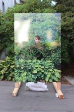 EB at an interactive art display