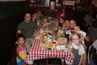 Our table at Bucca di Beppo