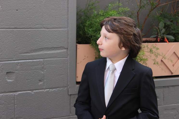 EB looking hansom in his suit