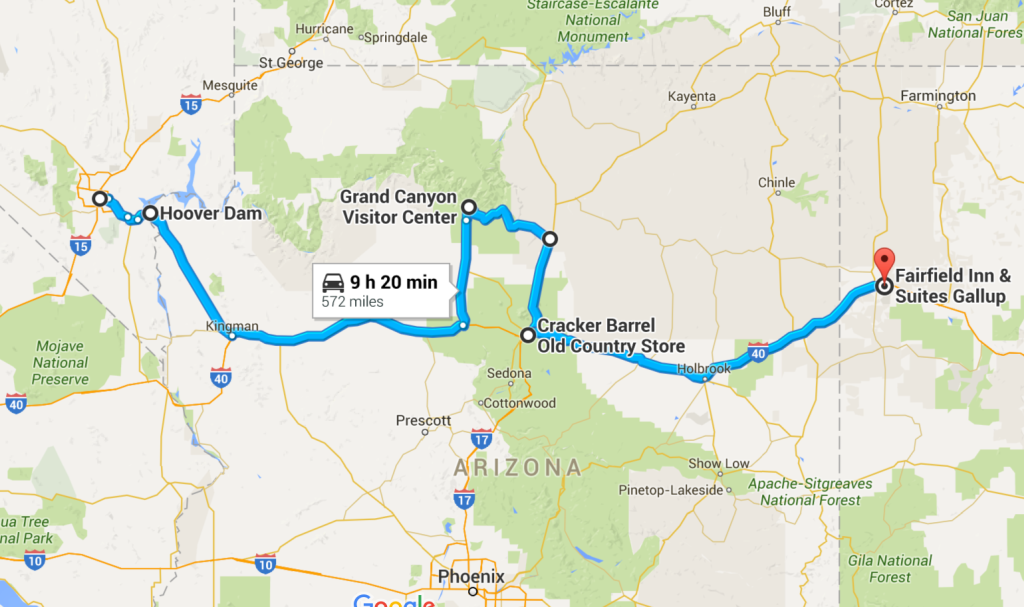 Las Vegas to Gallup
