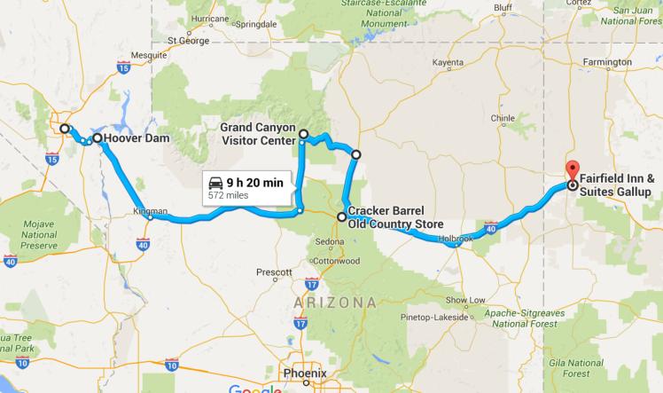 Las Vegas to Gallup