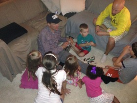 Uncle Chris she the kids his original Star Wars toy collection