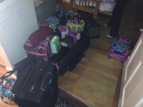 Some of our stuff we need to get back in the van