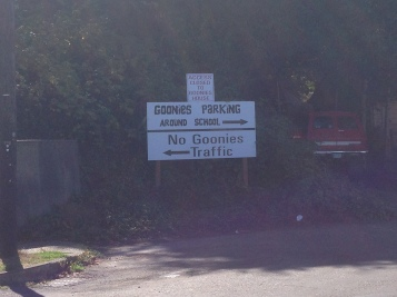 Arrived at the Goonies House - as close as I could get