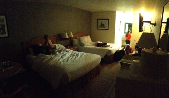 Late night arrival to our hotel
