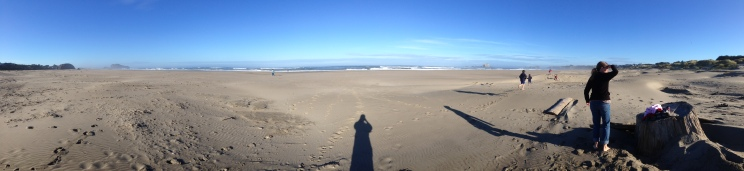 Panorama of our morning beach visit
