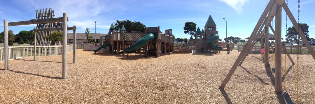 Panorama of the park we found