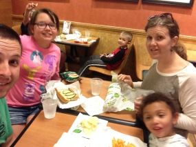 Dinner at Subway
