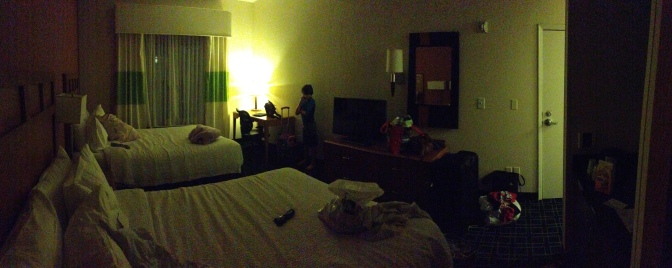We finally arrived at our room