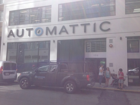 After a 2 mile walk, we finally reach Automattic headquarters