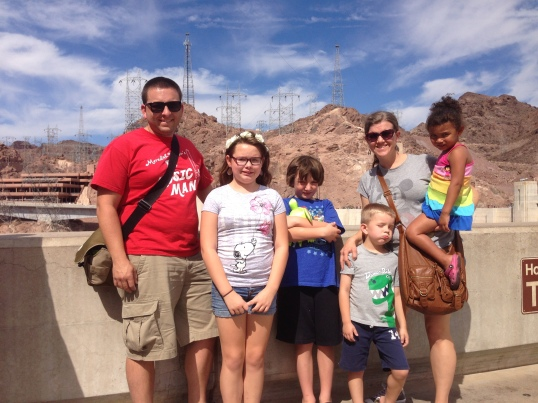 Family photo at Hoover Dam