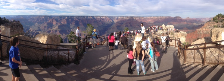 Lookout area of Grand Canyon