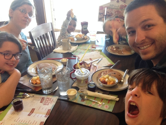 Lunch at Bob Evans on the way home