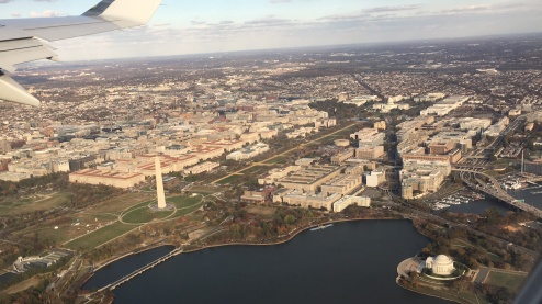 Flying over Washington DC