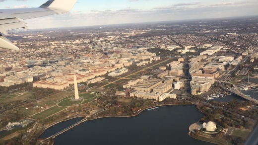 Flying over Washington DC