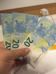 Got my Euros at the airport. (I didn't end up needing them much)