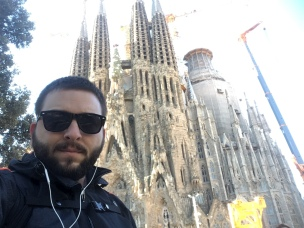 Visiting Sagrada Família - only a short walk from where we stayed.