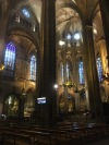 Inside Barcelona Cathedral - probably the oldest building I've ever been in in my life.