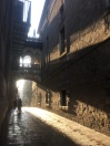Walking the twisted alleys of the Gothic Quarter in the early morning.